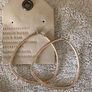 Anthropologie gold large hoop earrings